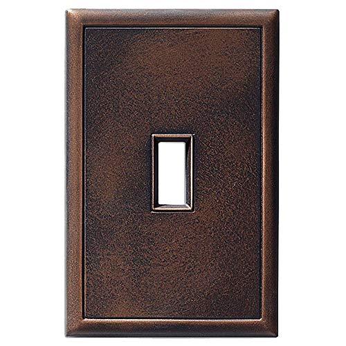 Metall-Kipplichtschalterplatten und Wandplattenabdeckungen, magnetisch, keine sichtbaren Schrauben Single Toggle Oil Rubbed Bronze