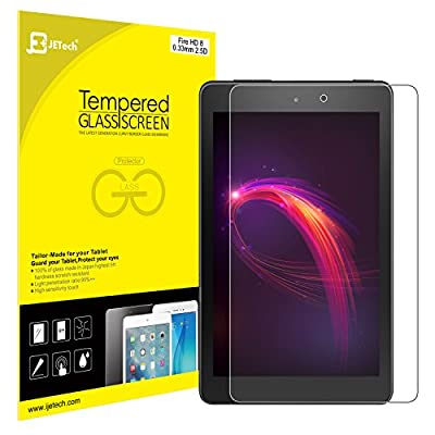 JETech Screen Protector for Amazon Fire HD 8 (2017 and 2016 Model), Tempered Glass Film