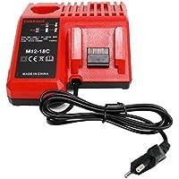 sustituir cargadores para Milwaukee M1818V Red 220V Li-Ion Tool battery 48–59–181248–59–180748–59–180648–59–18402710–20