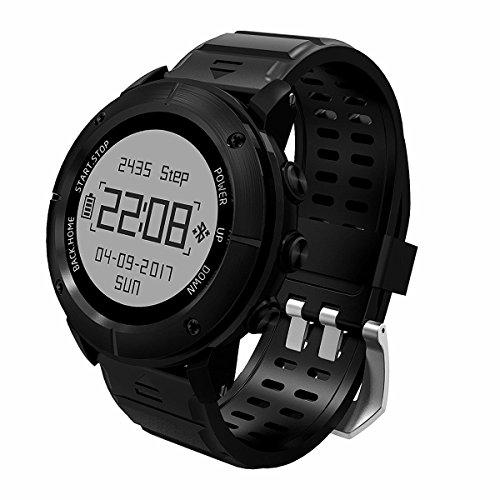 Sport Smart Watch GPS De Alta Precisión Impermeable Reloj Deportivo GP De Hombres Y Mujeres Alt. De Natación Decathlon Con Monitor De Frecuencia Cardíaca/Sos/Brújula/Barómetro