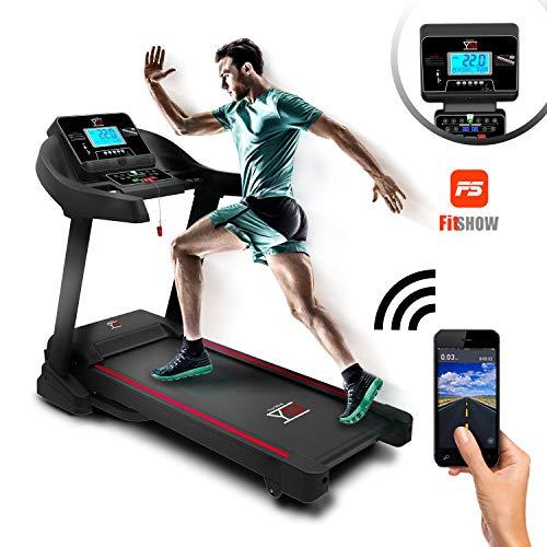YM Cinta de Correr eléctrica Plegable WiFi Sensor cardíaco 2500W/3,5HP Pico