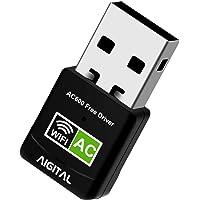 WLAN Adapter,WiFi Stick 600Mbps Mini Dual Band 2.4GHz / 5GHz Wireless USB Adapter Empfänger 802.11ac/n/g/b Netzwerk…