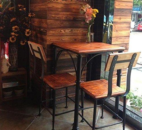 Upper-American retro Bügeleisen bar Tisch und Stühle aus Massivholz tisch Restaurants Geschäfte, Bars Cafés Möbel, einem Stuhl