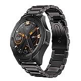 SPGUARD Compatible avec Bracelet Ticwatch S2 / E2, Bracelet Métallique de Remplacement en Acier Inoxydable de 22 mm pour Ticwatch E2 / Ticwatch S2