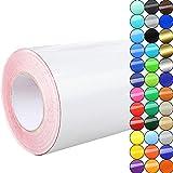 Rapid Teck® Glanz Folie - 010 weiss - Klebefolie - 5m x 63cm - Plotterfolie- Folie selbstklebend - auch als Moebelfolie - Klebefolie