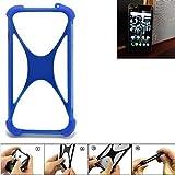 K-S-Trade Bumper für Kodak Ektra Silikon Schutz Hülle Handyhülle Silikoncase Softcase Cover Case Stoßschutz, blau (1x)