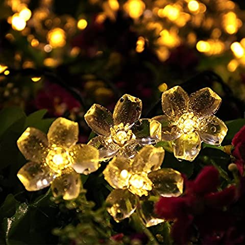 Solar Lichterkette, YUNLIGHTS 50 LED Wasserfeste Solar Blumen Lichterkette mit