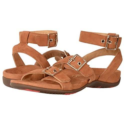 Vionic Womens 342 Rest Sahara Suede Sandals Carmel