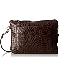 Bensimon Minibag, Women's Cross-Body Bag, Marron (Brown Python), 1.5x16x23 cm (W x H L)