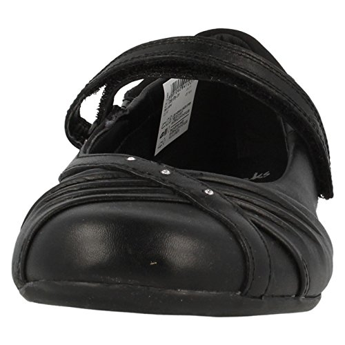 Clarks Kids Dolly Shy Jnr, Ballerines fermées fille Noir (Black Leather)