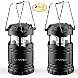 [2 PACK] Camping Lantern- Sahara Sailor Ultra Bright LED Lantern- Collapses - Suitable for: Hiking, Camping, Emergencies, Hurricanes, Outages - Super Bright - Lightweight - Water Resistant