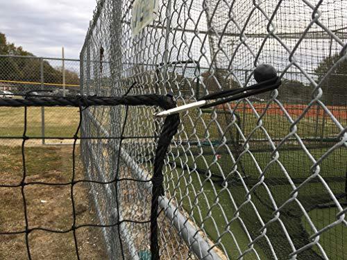 Nettings Wholesale #18 Baseballschutznetz Nylon, schwarz, 10ft x 20ft