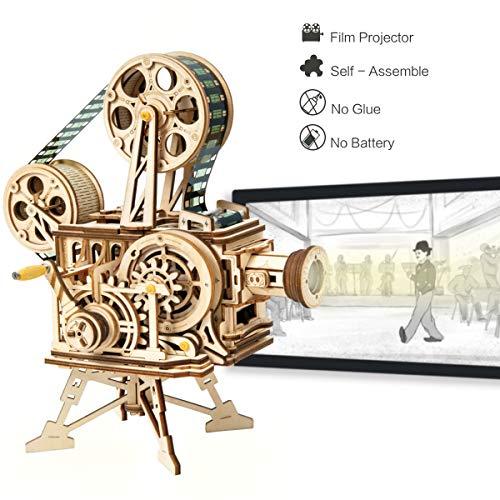 ROBOTIME Mechanisch Vitascope Holz Modellbau - 3D Puzzle Holz Erwachsene - Denkspiele Spielzeug Geschenk Teenager ab 14 Jahren - Zahnrad-puzzle