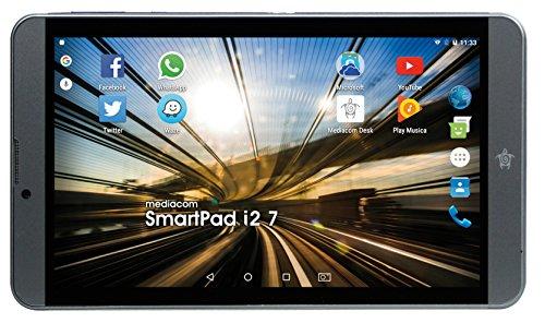 "Mediacom SmartPad i2 Tablet, Display da 7"" IPS, Memoria Interna da 8 GB Processore Intel Atom x3 Quad Core, 1.2 GHz"