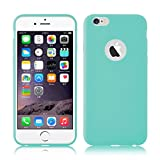 iPhone 6 / 6s Silikonhülle | JAMMYLIZARD Ultra Slim Handyschale 0.8mm Skin Case Hülle [Jelly Back Cover] Schutzhülle aus mattem TPU-Silikon, Türkis