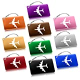 Tronisky Etichette per Bagagli, Etichette Viaggio Bagagli Bag Tag ID in Alluminio Viaggio Borsa Tag Airlines Bagagli Etichette, Viaggio Holiday Deposito Bagagli Tag - 10 Pezzi (Colore diverso)