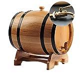 Des tonneaux de chêne for vieillir le whiskey, votre propre tequila, whisky, rhum, bourbon, vin (Color : Blanc, Size : Metal mouth-10L)