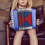 Juguete musical de acordeón de percusión para piano para niños, juguete de acordeón para niños de 7 teclas, 2
