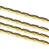 Nbeads 92m coreana Italian catene in ottone dorato, come su bobina ,0.9x 0.6mm; circa 92m/rotolo
