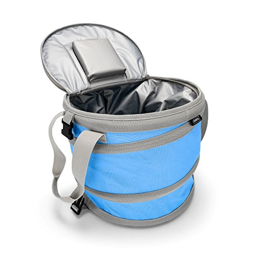 - Lightweight, Insulated, Waterproof, Portable and Collapsible - for Travel, Picnics, Hiking, Camping and The Beach - Blue (51995) ()