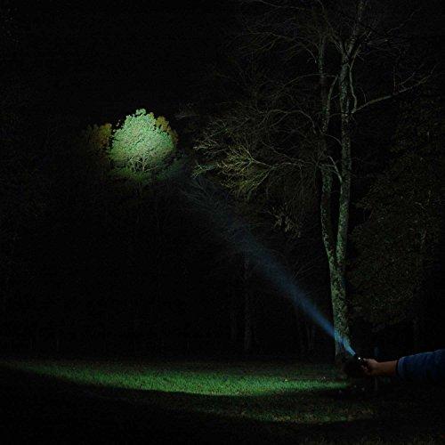 AUKEY Taschenlampe CREE LED, wiederaufladbar mit 2600 mAh AKKU, starkes Licht von 960 Lumen, IPX7 Wasserdicht, 4 Helligkeitsstufen und Stroboskop für Outdoor Sport (LT-SET6) - 6