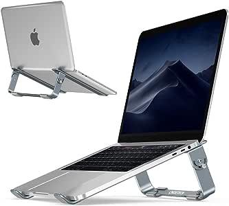 Chromebook iPad PRO 12.9 dell XPS 15 UGREEN Supporto PC Portatile Ventilato Supporto Notebook Pieghevole e Regolabile in Metallo Leggero Compatible with MacBook PRO Air Lenovo Yoga Notebook