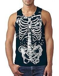 Adicreat Hombre Divertido 3D Gráfico Patrón Camisetas Sin Mangas Verano Transpirable Vestimenta BtMuT