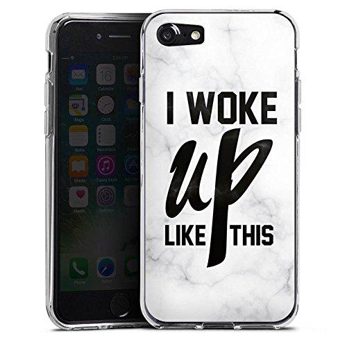Apple iPhone X Silikon Hülle Case Schutzhülle Flawless Beyonce I woke up like this Silikon Case transparent