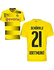 Puma BVB Borussia Dortmund Home Trikot 2017 2018 Heimtrikot mit Spieler Name Farbe Schürrle, Größe 176