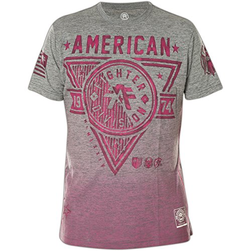 American Fighter by Affliction T-Shirt Siena Heights Handcrafted Grau Grau