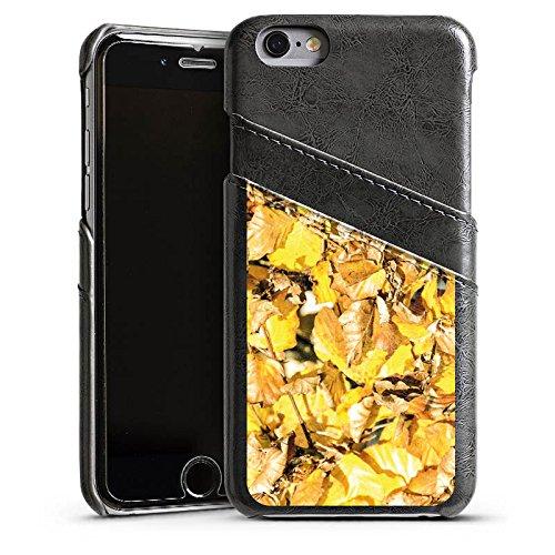 Apple iPhone 5 Housse étui coque protection Automne Feuillage Feuilles Étui en cuir gris
