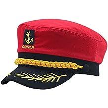 Cerrado Gorras Militares Hombre Mujer Unisexo Bordado Admiral Marinero  Capitán Sombreros d31186a6e20