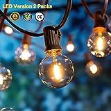 OxyLED Catene luminose,[LED Versione] G40 2 X 7,62 metri 12 lampadine luci all'aperto della corda del giardino del patio, luci decorative del corda,luci di natale del terrazzo del giardino