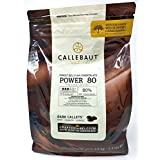 Callebaut Power 80 (Poder 80%) - Cobertura de Chocolate Negro Belga - Finest Belgian Dark Chocolate (Callets).