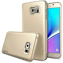 Galaxy Note 5 Funda - Ringke SLIM *** Cobertura Total de los 4-Sides & Back *** [GRATIS Pedregal Protector] [ROYAL GOLD(ORO)] Super Slim Ligera todo momento la protección del estuche rígido para Samsung Galaxy Note 5