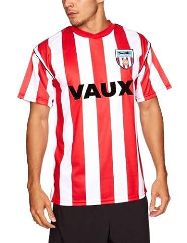 Score Draw Herren Sunderland 1990Retro Football Shirt XXL rot / weiß (1990 Verein)