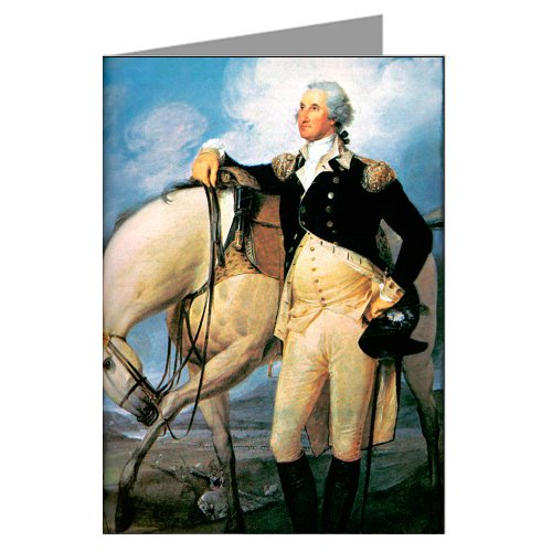 6 Vintage Greeting Cards of President George Washington Portrait by Artist John Turn Bull 1782.