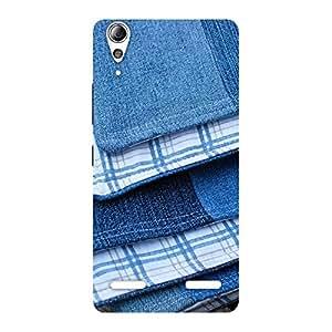 Cute Denim Blanket Print Back Case Cover for Lenovo A6000 Plus