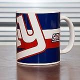 American Football Bierglas / Weizenglas mit New York Giants NFL Logo (Einheitsgröße) (Durchsichtig)