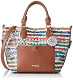 Desigual Bols Florida New Marine Hand Bag CrudoDati: Materiale: Outsider 100% poliuretano, interno 100% poliestere Dimensioni: Larghezza 38 cm, altezza 26 cm, profondità 16,5 cm Colore: Crudo (bianco / marrone) Fabbricante: Desigual