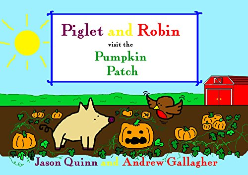 Piglet and Robin visit the Pumpkin Patch (English Edition) -