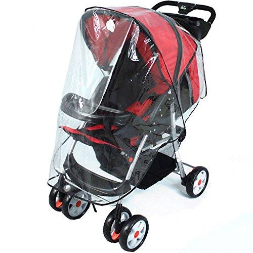 Parapioggia passeggino universale, mincome parapioggia universale comfort per passeggini, buona circolazione dell'aria, montaggio facile, senza pvc - transparente