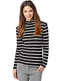 TOM TAILOR Femmes Pull-over col roulé 100 % coton