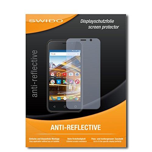 SWIDO Schutzfolie für Archos 40 Neon [2 Stück] Anti-Reflex MATT Entspiegelnd, Hoher Härtegrad, Schutz vor Kratzer/Bildschirmschutz, Bildschirmschutzfolie, Panzerglas-Folie