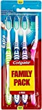 Colgate Extra Clean - Cepillo de dientes medio, 1 Pack de 4 unidades