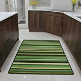 The Rug House Green Stripe Anti Creep Entrance door mat and runner rugs