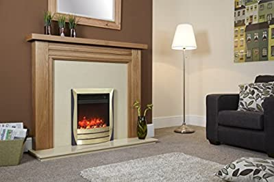Celsi Electriflame Lamela Electric Fire - Brass And Black