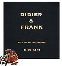 Didier & Frank - 75% Dark Chocolate - 50gm (Luxury Intense Dark Chocolate)