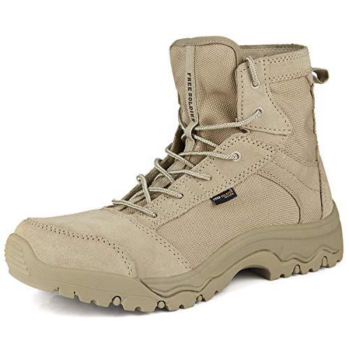 c305e449c6faf FREE SOLDIER Herren Wanderstiefel leichte Trekkingstiefel Atmungsaktive  Military Boots US Army Schuhe für Outdoor Camping Wandern Bergsteigen  Wüsten ...
