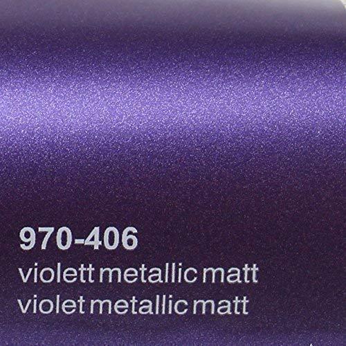 Oracal 970RA 406 Violett Matt Metallic gegossene Profi Autofolie 152cm breit BLASENFREI mit Luftkanäle